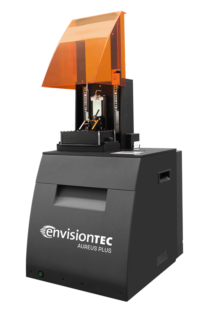 The EnvisionTEC Aureus is a high-quality, reliable 3D printer for mass customized production.