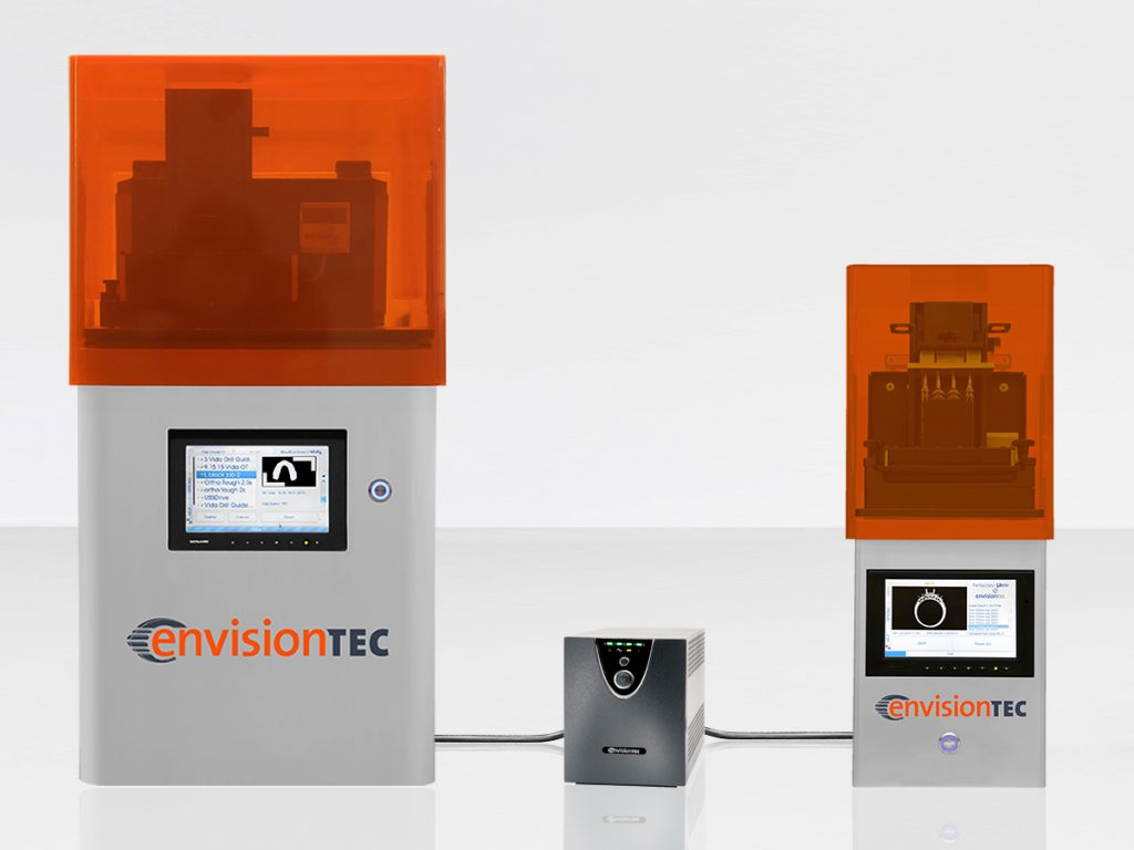EnvisionTEC, a leading global manufacturer of professional-grade 3D printers and materials, today launches a new power protection system line of accessories to ensure that voltage fluctuations and power outages don't disrupt the 3D printing process for its desktop and production 3D printer users.
